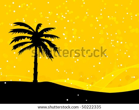 Palm tree card.