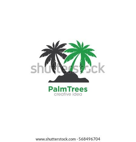 palm tree logo design