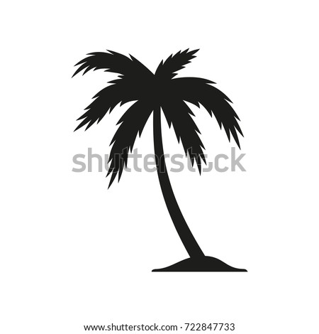palm tree vector icon black illustration stock vector royalty free rh shutterstock com palm tree vector clipart palm tree vectors free download