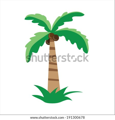 Palm tree vector safari illustration