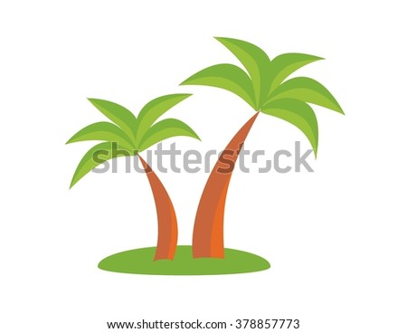 Palm trees. Holiday concept, palm, holiday icon, vector