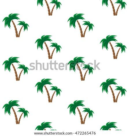 palm trees seamless pattern vector illustration stock vector 2018 rh shutterstock com  palm tree leaf pattern vector