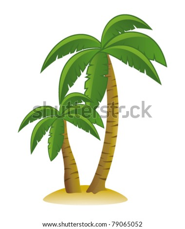 Palm trees. Vector - stock vector