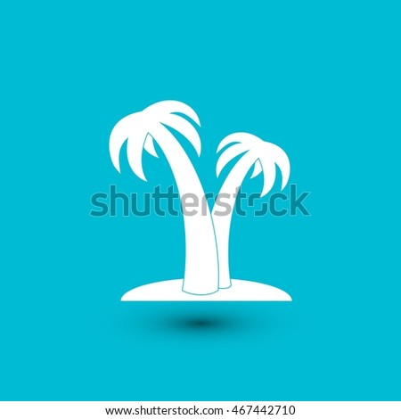 palm tropical tree icon