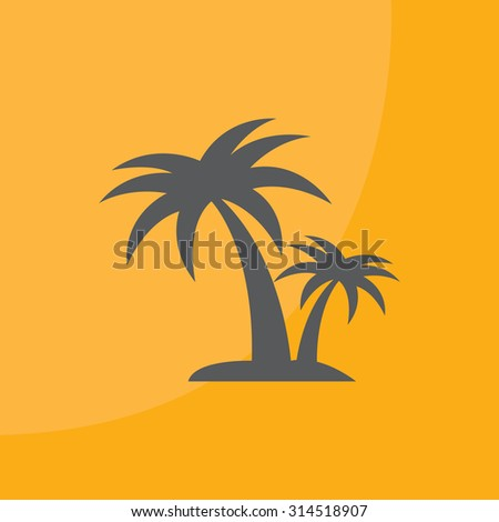 palm tropical tree  icon silhouette vector illustration