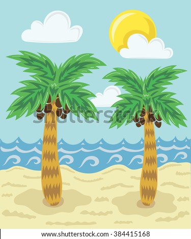 Palms and the sea
