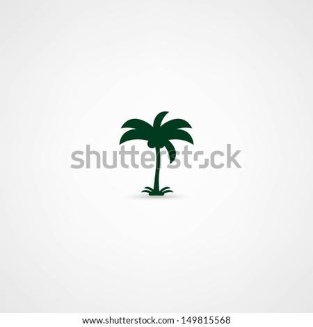 palms icon - stock vector