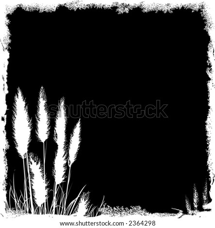 Pampas Grass Grunge Background - Vector File, change colors as you like - stock vector