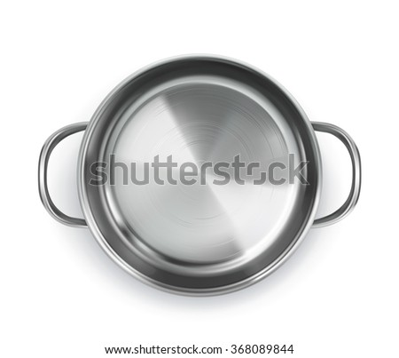 Pan, top view vector object - stock vector