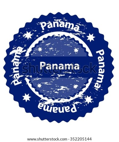 Panama Country Grunge Stamp - stock vector