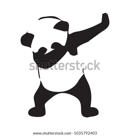 panda dab vector logo stock vector royalty free 1035792403