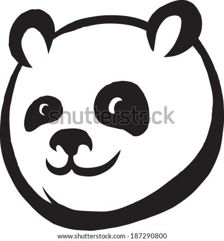 panda face - stock vector