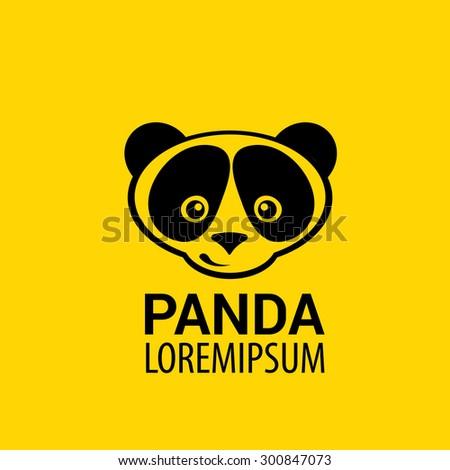 Panda Icon Vector Panda Bear Symbol Stock Vector 300847073