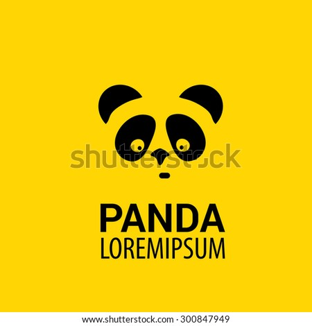 Panda Icon Vector Panda Bear Symbol Stock Vector 300847949