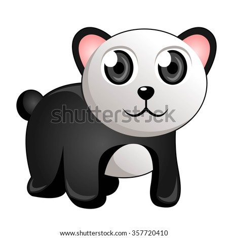 Panda in White Background