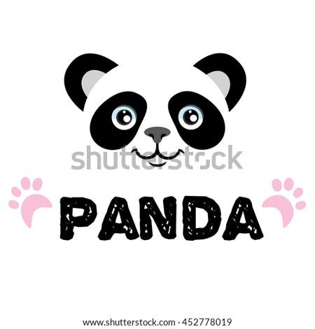 Panda Logo Isolated Head On White Stock Vector Royalty Free
