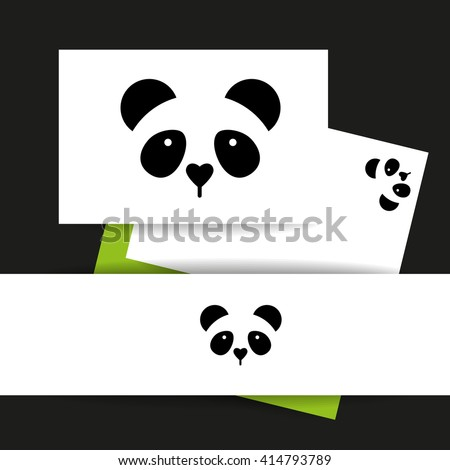 Panda Logo Panda Design Identity Presentation Stock Vector Hd