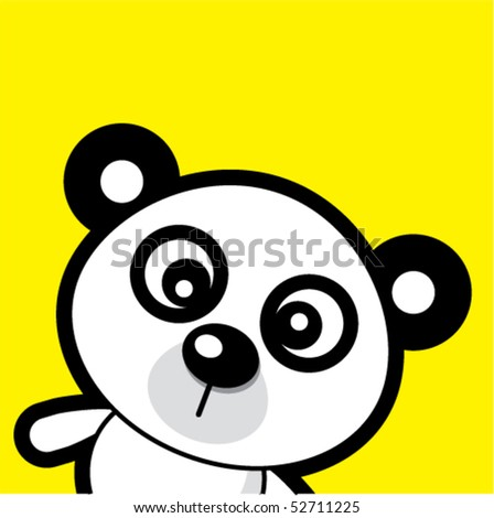 panda tag - stock vector