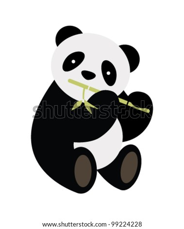 Panda. Vector illustration. - stock vector