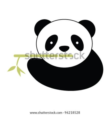 Chinese Panda Vector Panda With Bamboo Vector
