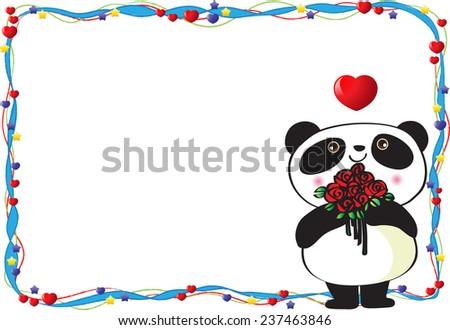 panda blank valentines day card stock vector 237463846 - shutterstock, Ideas