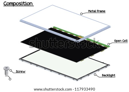 Panel Size 31.5 - stock vector