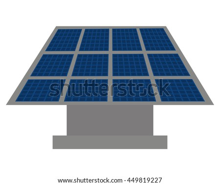 panel solar  isolated icon design, vector illustration  graphic