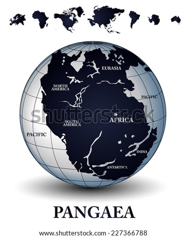 Pangaea - stock vector