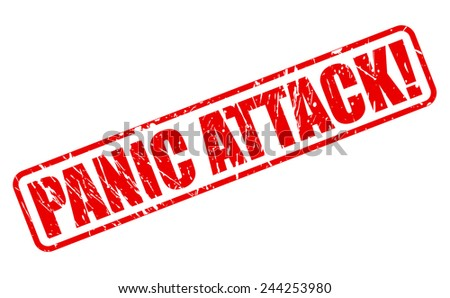 Panic attack red stamp text on white - stock vector