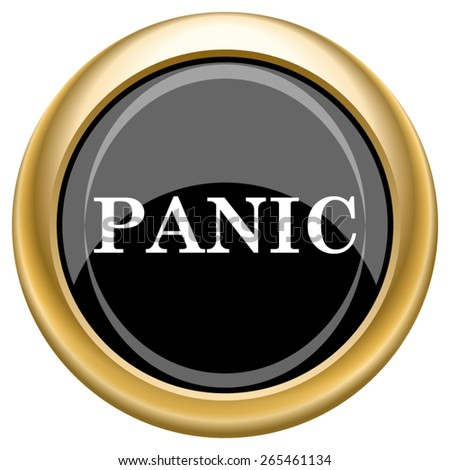 Panic icon. Internet button on white  background. EPS10 Vector.  - stock vector