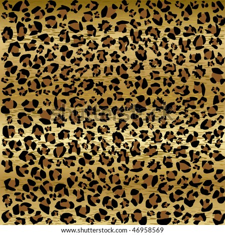 PANTHER PATTERN - stock vector