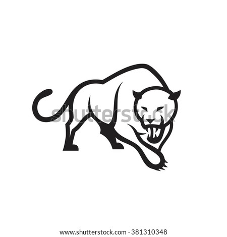 Panther symbol - vector illustration  - stock vector