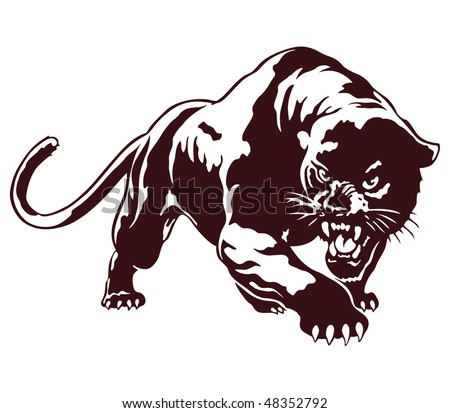 Panther. tribal vector illustration - stock vector