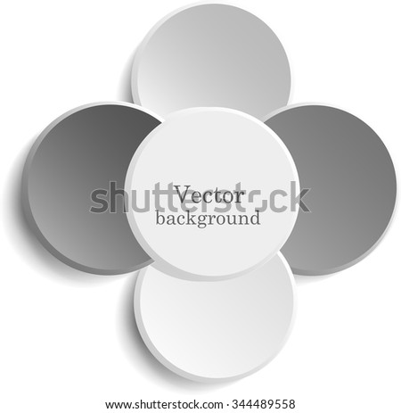 Paper a circle banner with a shadow. Vector illustration - stock vector