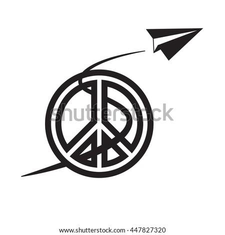 Paper Airplane Peace Symbol International Peace