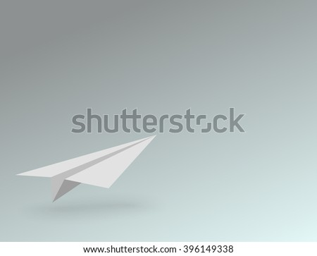 Paper airplane background