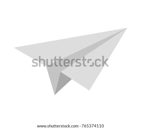 paper airplane icon on white background