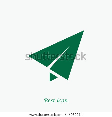 Paper airplane icon, Vector EPS 10 illustration style