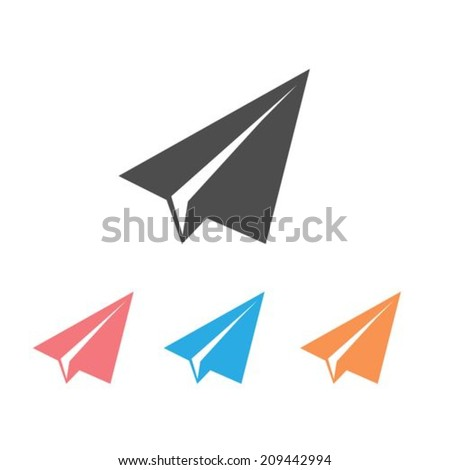 Paper airplane icons - stock vector