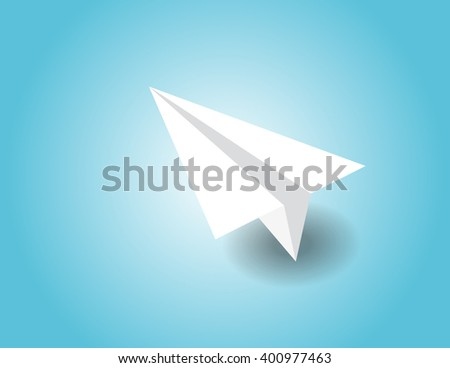 Paper airplane in the sky