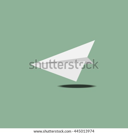Paper airplane vector icon - start up and launch.