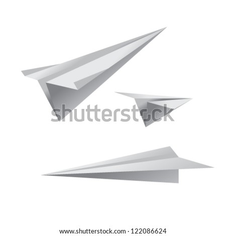 paper airplanes - stock vector