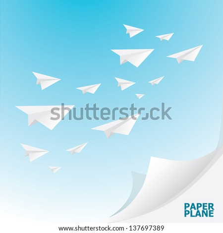 Paper airplanes flying blue sky business stock vector 137697389 paper airplanes flying in blue sky business metaphor of free market vector illustration malvernweather Gallery