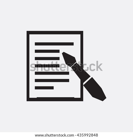 Paper and pen Icon, Paper and pen Icon Eps10, Paper and pen Icon Vector, Paper and pen Icon Eps, Paper and pen Icon Jpg, Paper and pen Icon, Paper and pen Icon Flat, Paper and pen Icon App - stock vector