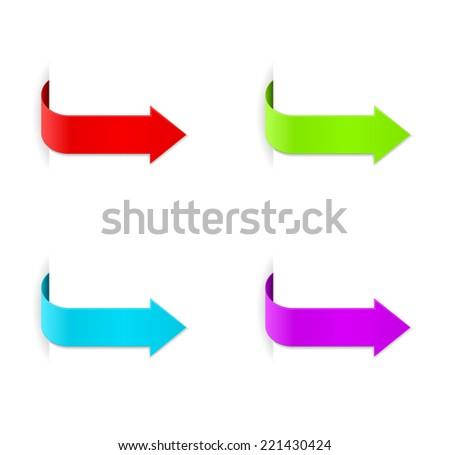 paper arrow banner design - stock vector