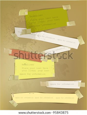 Paper backgrounds - stock vector
