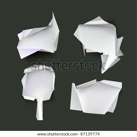 paper backgrounds Origami - stock vector