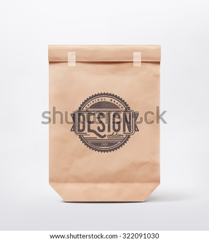 Paper bag for design, eps 10