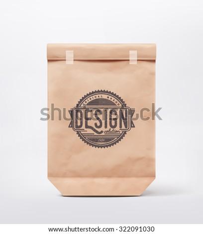 Paper bag for design, eps 10 - stock vector