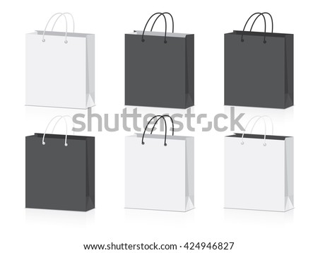 paper bag for your design EPS10 Vector Mock up easy to change color